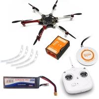 DJI F550 ARF KIT + NAZA-M V2 + GPS + Landing skid + DT7 + аккум. 5200 mah