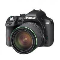 Зеркальная камера Pentax K-50 Kit + объектив DA 18-135 WR черный