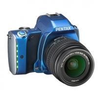 Зеркальная камера Pentax K-S1 + объектив DA L 18-55 синий