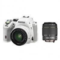 Зеркальная камера Pentax K-S2 + объективы DA 18-50 DC WR + DA 50-200 DC WR, белый
