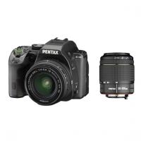 Зеркальная камера Pentax K-S2 + объективы DA 18-50 DC WR + DA 50-200 DC WR, черный