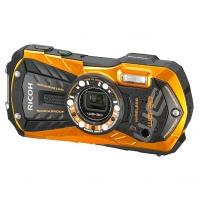 Влагозащищенная компактная фотокамера Ricoh WG-30 Wi-Fi оранжевый с серыми вставками