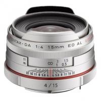 Объектив Pentax HD DA 15mm f/4 AL Limited Silver