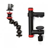 Joby Держатель-струбцина Action Clamp & GorillaPod Arm (черный/красный)